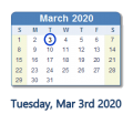 March 3 2020