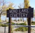 Mono Lake Cemetery sign