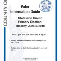 Voter Information Guide front cover