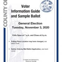 November 3, 2020 General Election Cover Page