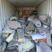 Carpet in a dumpster