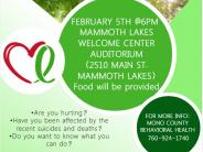 Suicide Awareness Event on February 5th