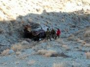 Vehicle down cliff