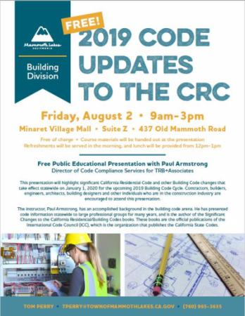 2019 Code Updates to the CRC Presentation Flier