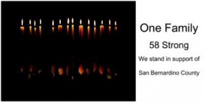One Family, 58 Strong. We stand in support of San Bernardino County