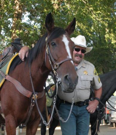 Lieutenant West with a horse