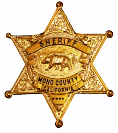 Mono County Sheriff Badge image