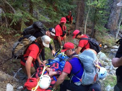 Aid to lost hunter near Poison Creek