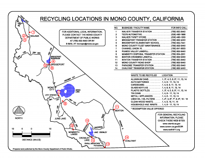Recycling locations map