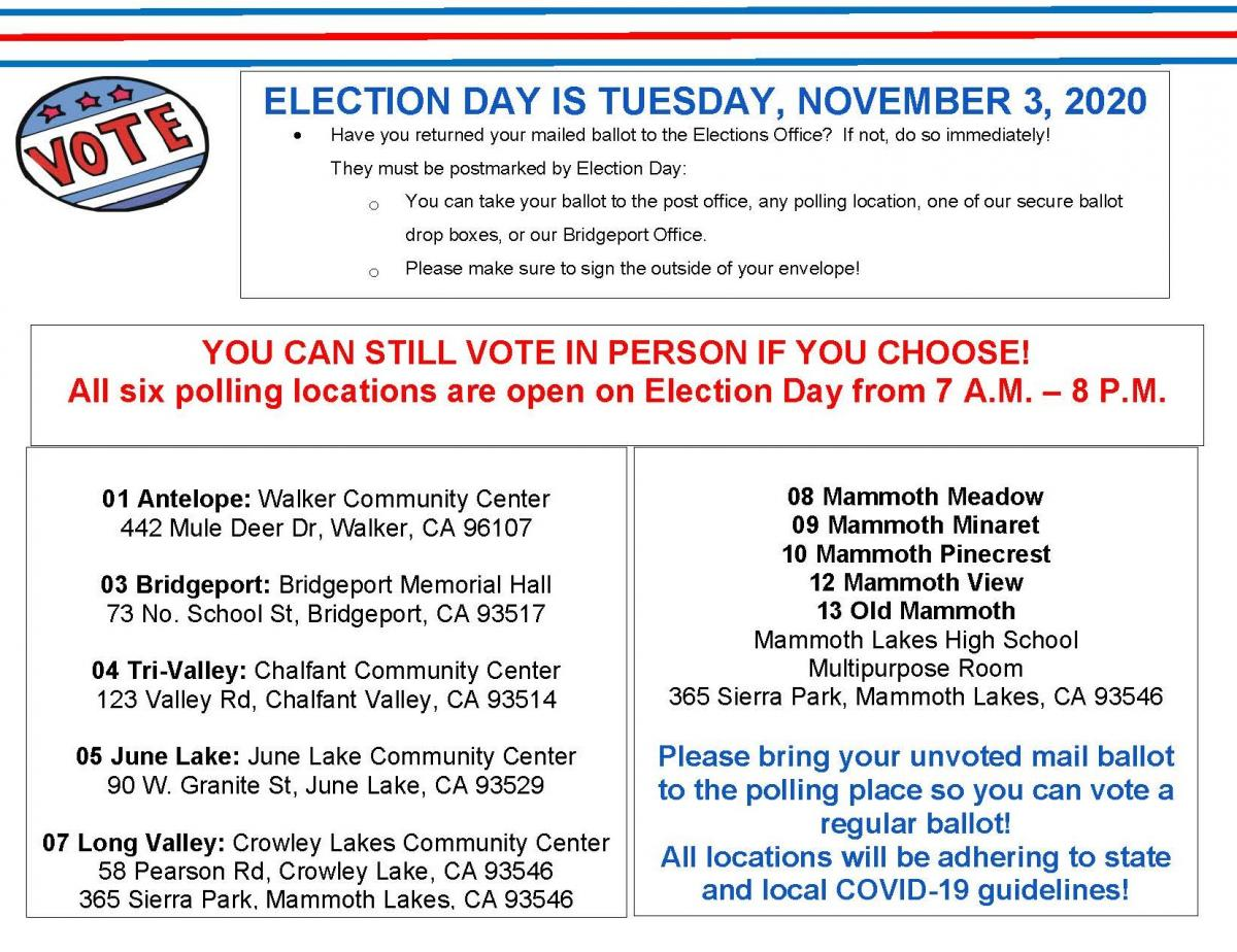 Election Day - How to Vote
