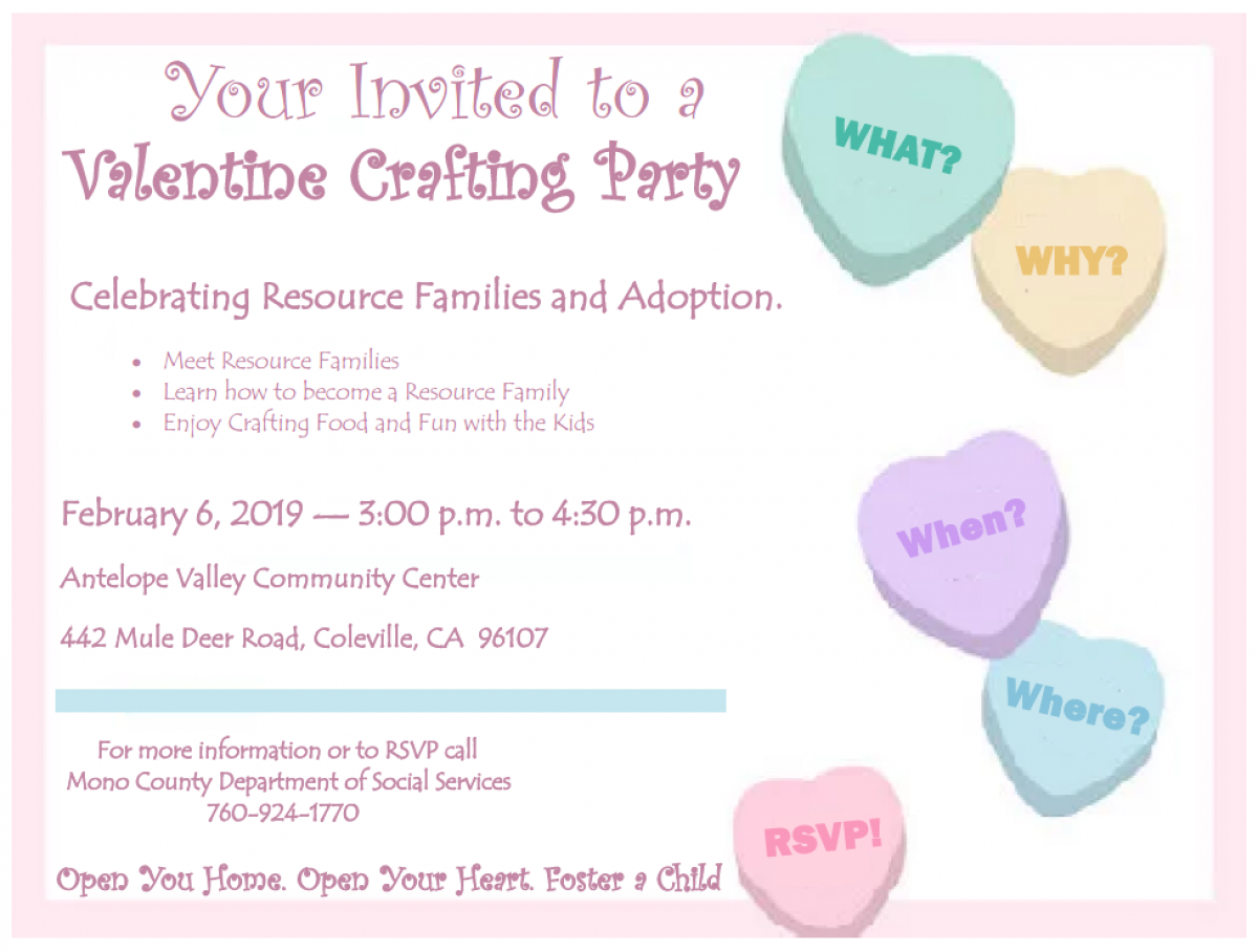 Valentine Crafting Party