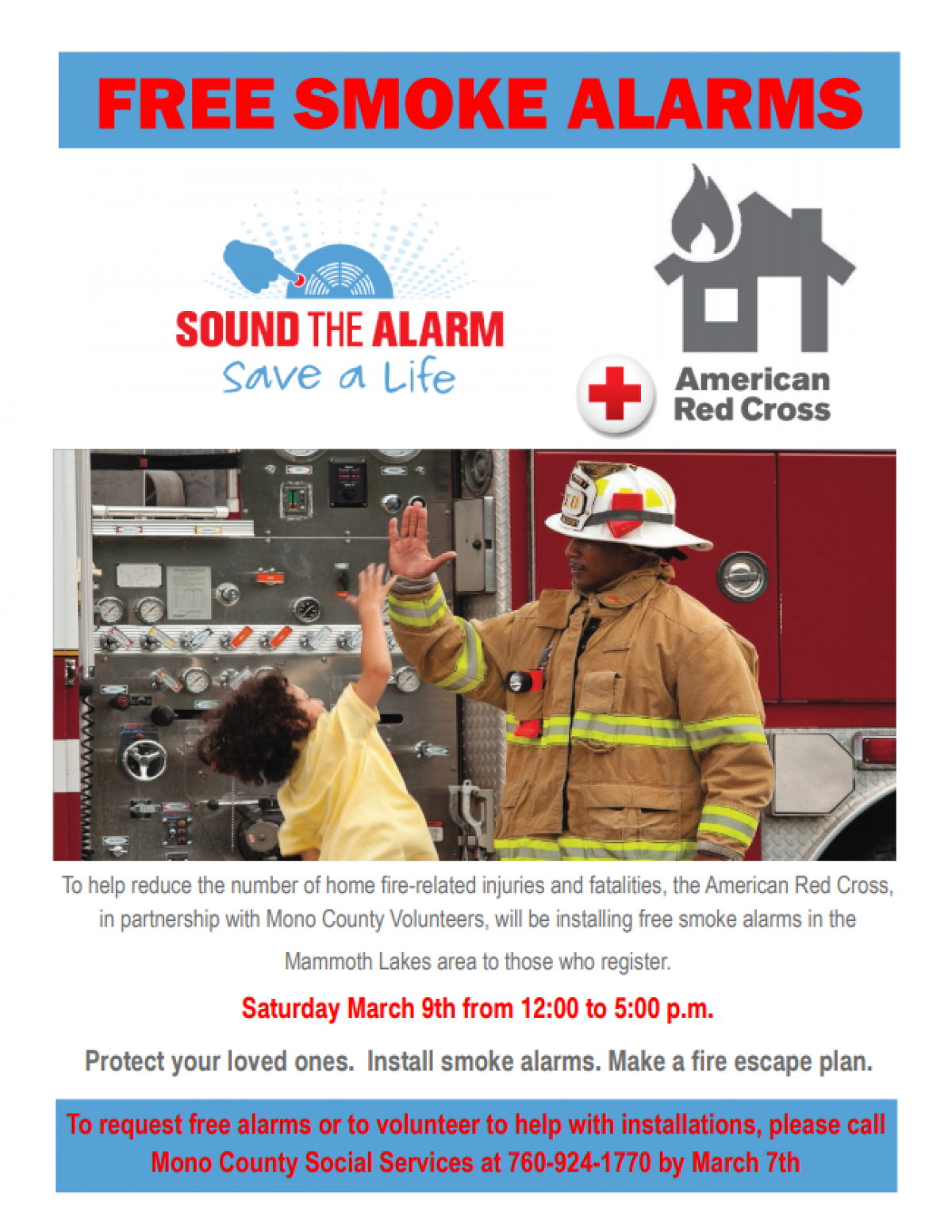 Sound the Alarm Fire Campaign