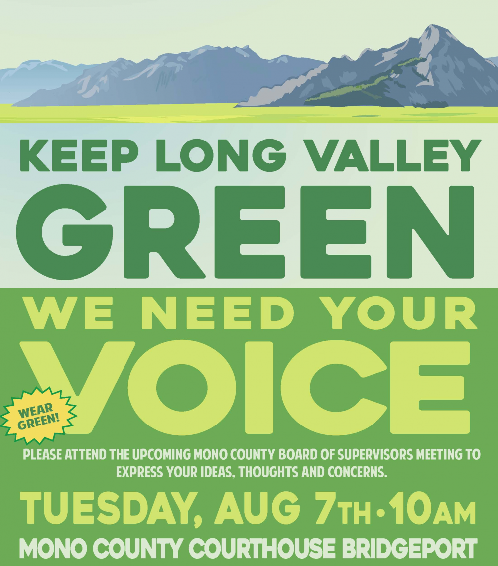 Urge LADWP to Keep Long Valley Green! | Mono County California