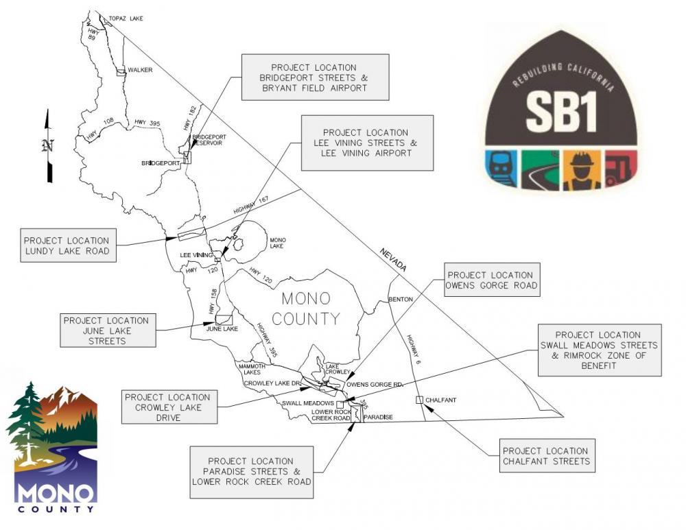 SB1 Road Improvement Projects   Mono County California