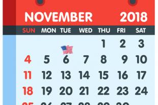 November 6, 2018 Calendar